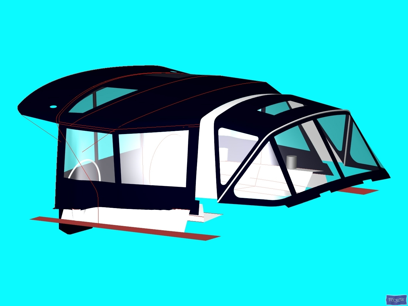 Beneteau Oceanis 45 Bimini Conversion requires seperate Bimini_4